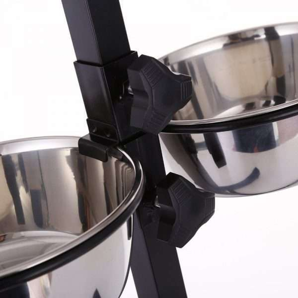 adjustable stainless pet bowls