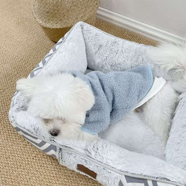 Dog bed white3
