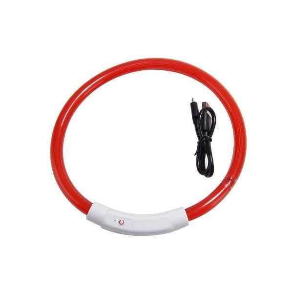 LED rechargable dog collar