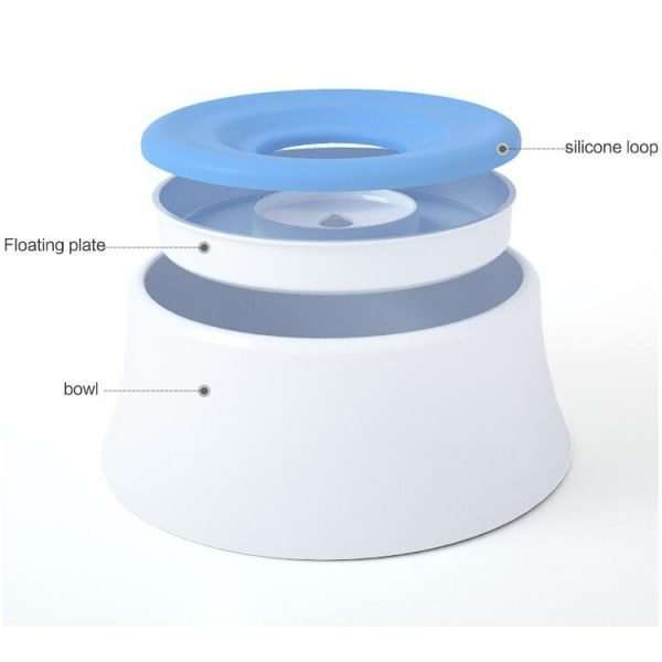 No Spill Floating pet water Bowl