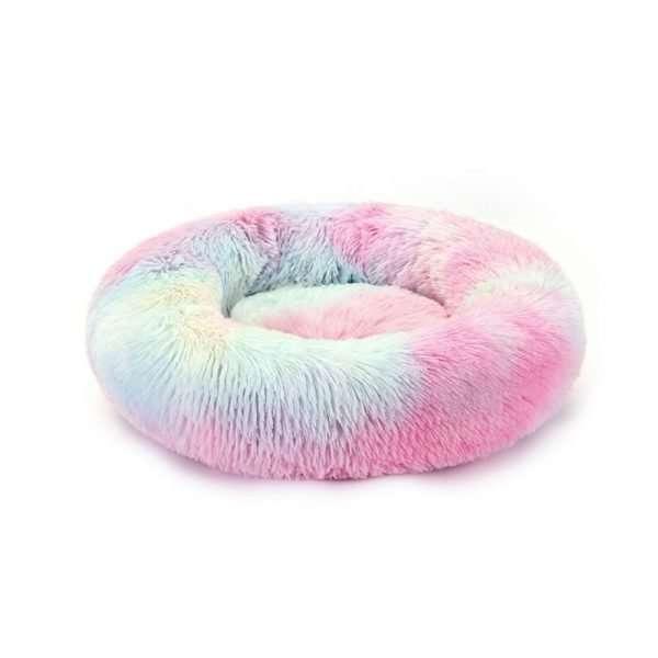 pet donut bed rainbow1