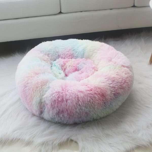 pet donut bed rainbow3