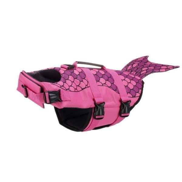 Verstelbaar Honden Zwemvest - Zwemondersteuning - Roze - Meermin
