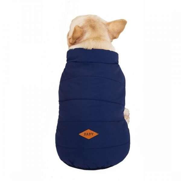 Dog winter coat blue